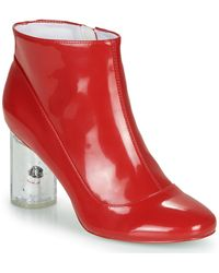 Katy Perry The Globee Low Ankle Boots - Red