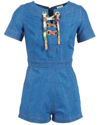 Manoush - Lacet Women's Jumpsuit In Blue - Lyst