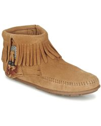 Minnetonka - Concho Feather Boot Mid Boots - Lyst