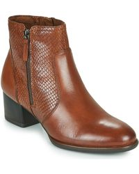 Tamaris Caxias Low Ankle Boots - Brown
