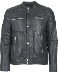 Redskins Montana Leather Jacket - Black