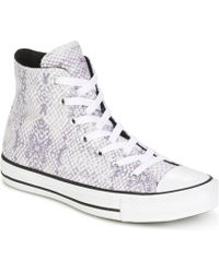 dcd7fa312213 Converse - Chuck Taylor All Star Lurex Snake Hi White cool Grey black Shoes