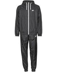 Nike M Nsw Sce Trk Suit Hd Wvn - Black