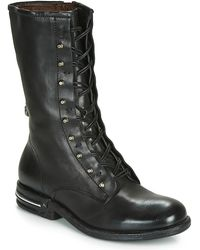 A.s.98 Teal Lace Mid Boots - Black