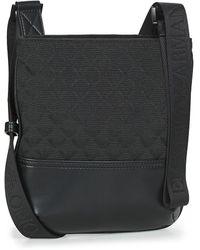 Emporio Armani Piattina Omnia Jacquard - Messenger Bag Pouch - Black