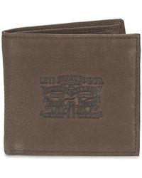Levi's Denim Lined Purse Wallet - Brown