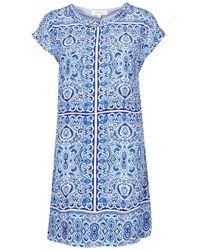 Rene' Derhy Stress Dress - Blue