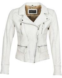 Oakwood Camera Leather Jacket - White