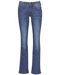 G-Star RAW Midge Mid Bootcut Wmn Women's Bootcut Jeans In Blue