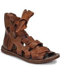 A.s.98 Ramos Laces Sandals - Brown