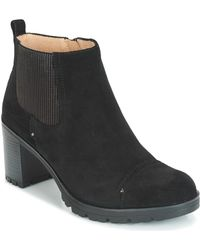 Stonefly Blasy 2 Velour Low Ankle Boots - Black