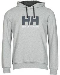 Helly Hansen Hh Logo Hoodie Sweatshirt - Grey