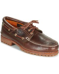 Timberland S Heritage Classic Lug Leather Lace Up Boat Shoe Uk Sizes 7-12 Burgundy - Brown