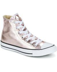 e5aa0f653e7e Converse - Chuck Taylor All Star Metallic Canvas Hi Rose Quartz white black  Shoes