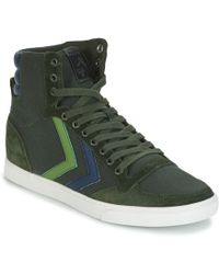 Hummel Slimmer Stadil Duo Canvas High Shoes (high-top Trainers) - Green