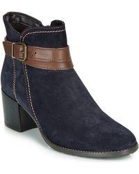 Tamaris Paula Low Ankle Boots - Blue