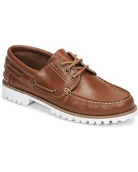 Casual Attitude Jalayame Boat Shoes - Brown