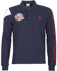 U.S. POLO ASSN. United States Polo Men's Polo Shirt In Blue