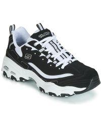 Skechers D'lites Health Care Professional Shoe - Black