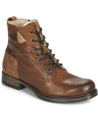 Mustang 4865610-303 Men's Mid Boots In Brown
