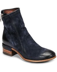 A.s.98 Give Zip Low Ankle Boots - Blue
