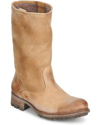NDC Vallee Blanche Kuduwaxoil/dfa High Boots - Brown