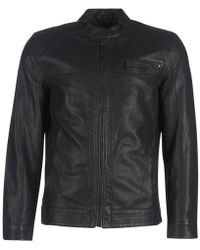 Only & Sons Onsal Leather Jacket - Black
