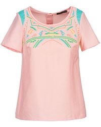 Color Block Adriana Blouse - Pink