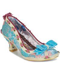 Irregular Choice Bish Bash Bow Women's Court Shoes In Blue