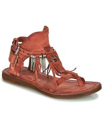 A.s.98 Ramos Sandals - Red