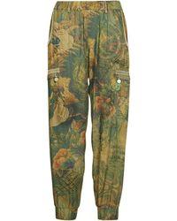 Desigual Corfu Trousers - Green