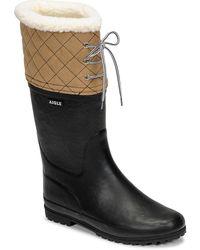 Aigle Polka Giboulee Snow Boots - Blue