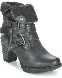 Mustang Kewane Low Ankle Boots - Black
