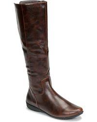 Moony Mood Gurlen High Boots - Brown