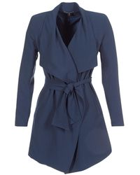 ONLY Onlruna Women's Trench Coat In Blue