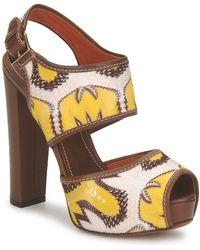 Missoni Tm81 Sandals - Brown