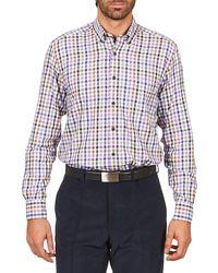 Pierre Cardin Elazar Men's Long Sleeved Shirt In Multicolour