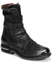 A.s.98 Teal Mid Boots - Black