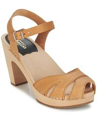 Swedish Hasbeens Suzanne Sandals - Natural