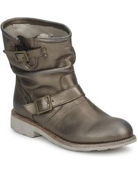 Bikkembergs Vintage 502 Women's Mid Boots In Grey