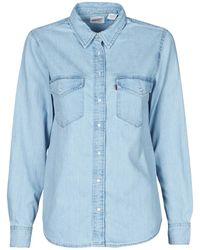Levi's Levis Essential Western Shirt - Blue