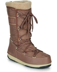 Moon Boot Monaco Wool Wp Snow Boots - Brown