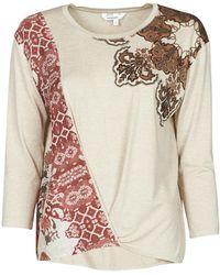 Desigual Oporto Long Sleeve T-shirt - Natural