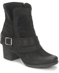 Dream in Green Vinel Women's Low Ankle Boots In Black