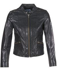 Betty London Igacrash Leather Jacket - Black