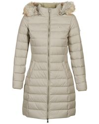 Tommy Hilfiger Essential Down Hooded Coat - Natural