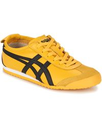 Onitsuka Tiger Mexico 66 Leather and Suede Low-Top Trainers - Black