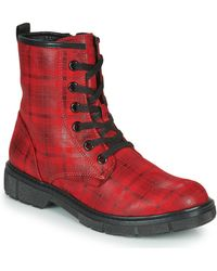 Marco Tozzi 2-25283-25-530 Mid Boots - Red