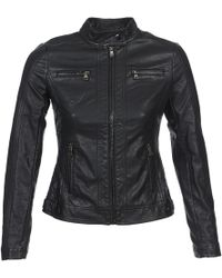 Moony Mood - Idescune Women's Leather Jacket In Black - Lyst
