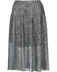 Betty London Foyeuse Women's Skirt In Silver - Metallic